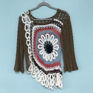 Tempo Paris Knitted Fall Color Sweater Size M